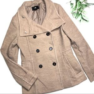 H&M | sz 8 tan camel pea coat
